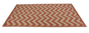 Linon Home Decor  9.5 ft. L x 6.5 ft. W Red  Outdoor Rug