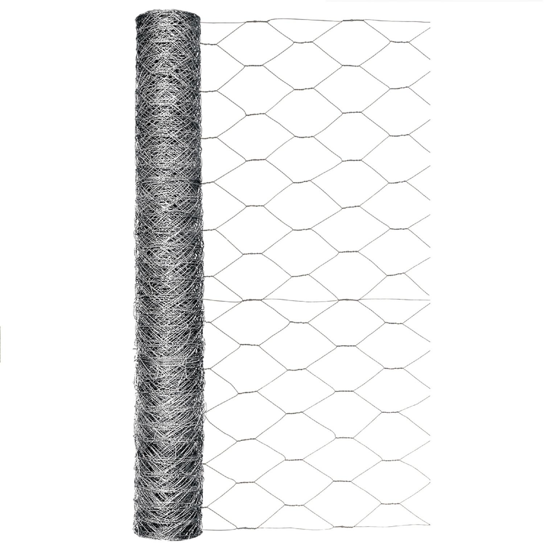 garden zone 24 in  h x 50 ft  l 20 ga  silver poultry netting
