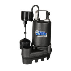 Basement Watchdog  Professional  1/3 hp 4,000 gph Cast Iron  Vertical Float Switch  AC  Sump Pump