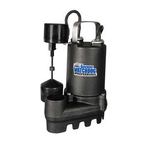 Basement Watchdog  Professional  1/3 hp 4000 gph Cast Iron  Submersible Sump Pump