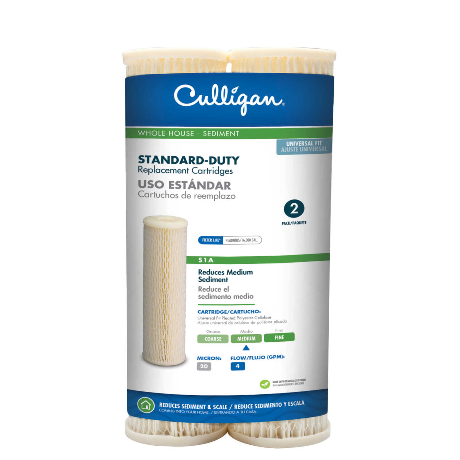 Culligan  Level 1 Sediment  Replacement Filter Cartridge  For Whole House 16000 gal.