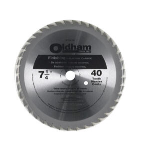 Oldham  7-1/4 in. Dia. x 5/8 in.  Carbide Tipped  Circular Saw Blade  40 teeth 1 pk