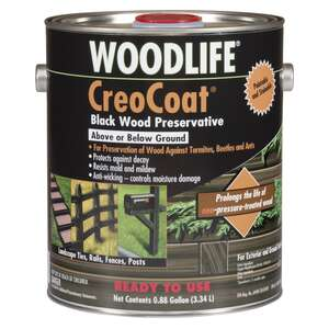 Woodlife  CreoCoat  Water-Based  Black  1 gal. Wood Preservative