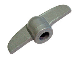 Barton Kramer  2.75 in. L Gray  Die-Cast  Handle for Jalousie Window  1 pk