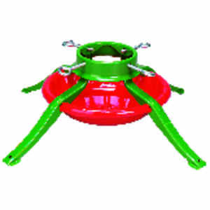 Jack-Post  Metal  Green/Red  Christmas Tree Stand  8 ft. Maximum Tree Height