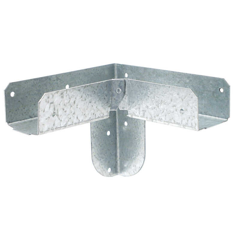 Simpson Strong-Tie  5 in. H x 4.94 in. W Rigid Tie Corner  Galvanized Steel  18 Ga.