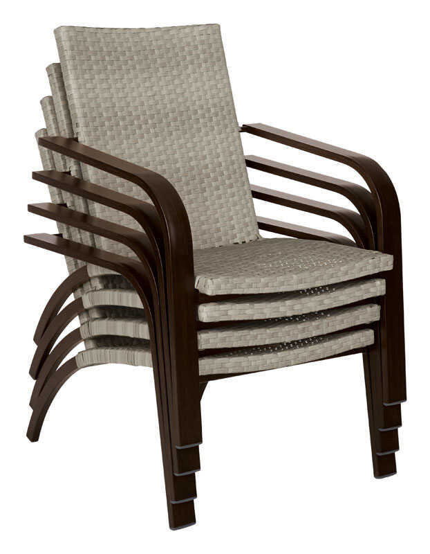 Living Accents  1  Brown  Aluminum  Chat Chair