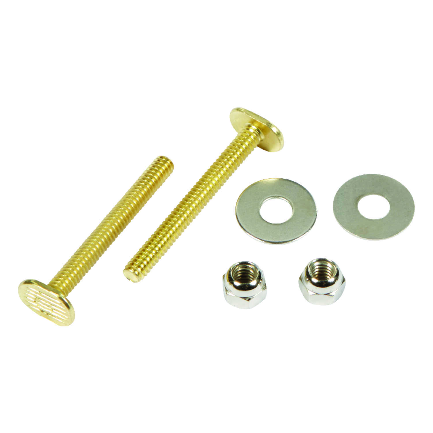 Ace  Toilet Bolt Set  Brass Plated