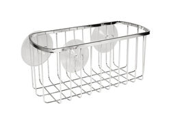 InterDesign  Shower Basket  4.1 in. H x 8.7 in. W x 4.1 in. L Chrome  Silver  Stainless steel