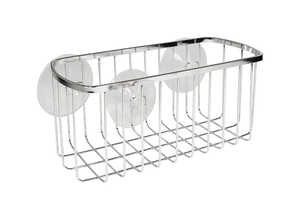 InterDesign  Shower Basket  4.1 in. H x 4.1 in. L x 8.7 in. W Stainless steel  Chrome  Chrome