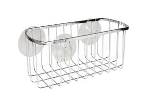 InterDesign  Shower Basket  4.1 in. H x 4.1 in. L x 8.7 in. W Chrome  Stainless steel  Chrome