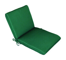Casual Cushion  Green  Polyester  Seating Cushion  1.5 in. H x 19 in. W x 36 in. L