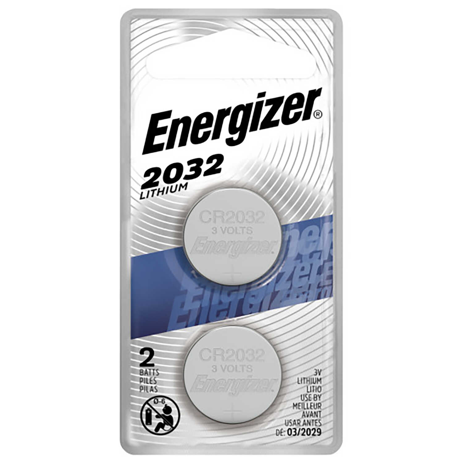 Energizer  Lithium  2032  3 volt Electronic/Watch Battery  2 pk