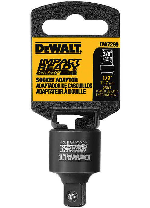 DeWalt  1/2 Square Anvil to 3/8 Square Anvil in. drive  Socket Impact Adapter  Steel