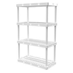 Gracious Living  Knect-A-Shelf  48 in. H x 24 in. W x 12 in. D Resin  Shelving Unit