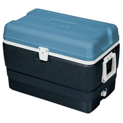 Igloo  MaxCold  Cooler  50 qt. Blue