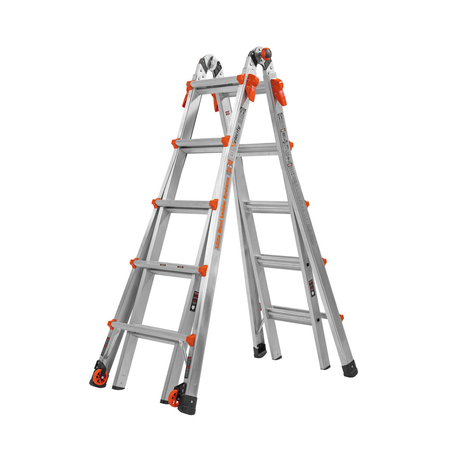 Little Giant  Velocity  22 ft. H Aluminum  Articulating Ladder  Type IA  300 lb.