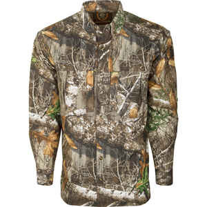 Drake  Dura-Lite  S  Long Sleeve  Men's  Collared  Realtree Edge  Shirt
