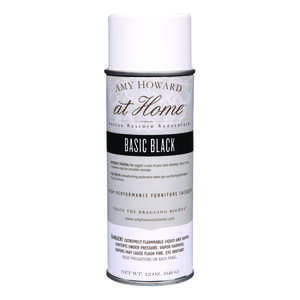Amy Howard at Home  Gloss  Basic Black  High Performance Furniture Lacquer Spray  12 oz.