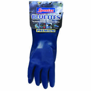 Spontex  Neoprene  Gloves  M  Blue  1 pk
