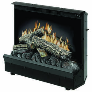 Dimplex  23.2 in. W 400 sq. ft. Black  Traditional  Electric Fireplace