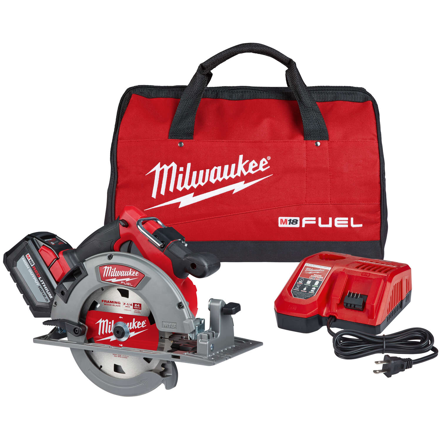 Milwaukee M18 FUEL 18 volt 7-1/4 in. Cordless Brushless Circular Saw Kit (Battery & Charger)