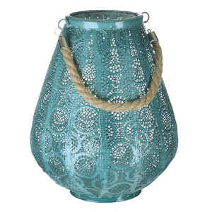 Paradise Lighting  LED  Metal  Lantern  Turquoise