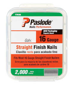 Paslode  16 Ga. Smooth Shank  Straight Strip  Finish Nails  1-1/4 in. L x 0.11 in. Dia. 2,000 pk