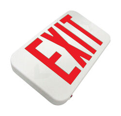 Howard Lighting  Polycarbonate  Indoor and Outdoor  LED  Lighted Exit Sign