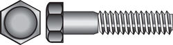 Hillman  3/8 in. Dia. x 1 in. L Zinc Plated  Steel  Hex Bolt  100 pk
