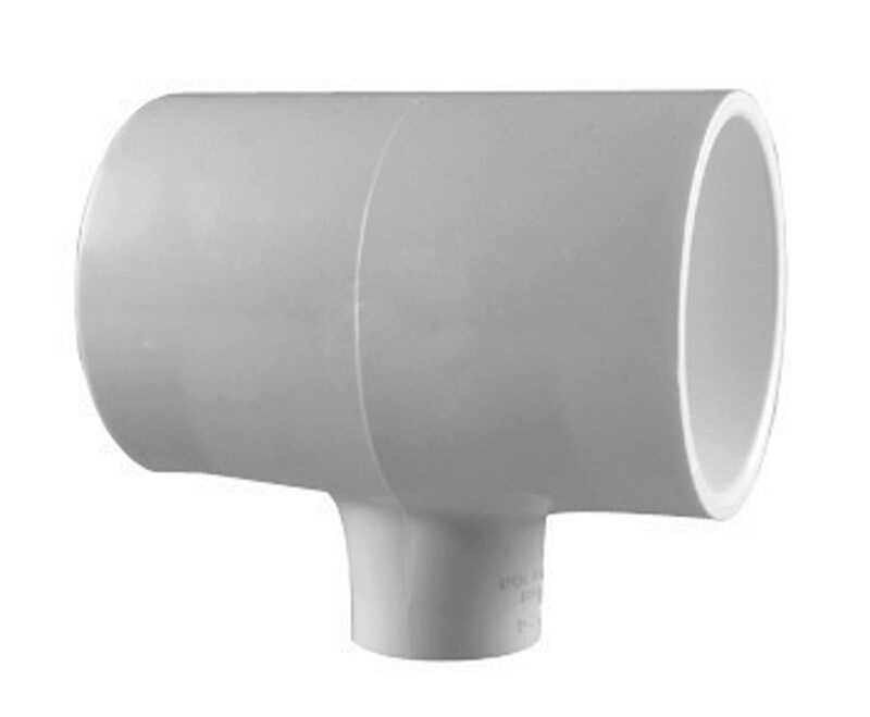 Charlotte Pipe  Schedule 40  1 in. Slip   x 1 in. Dia. Slip  PVC  Reducing Tee
