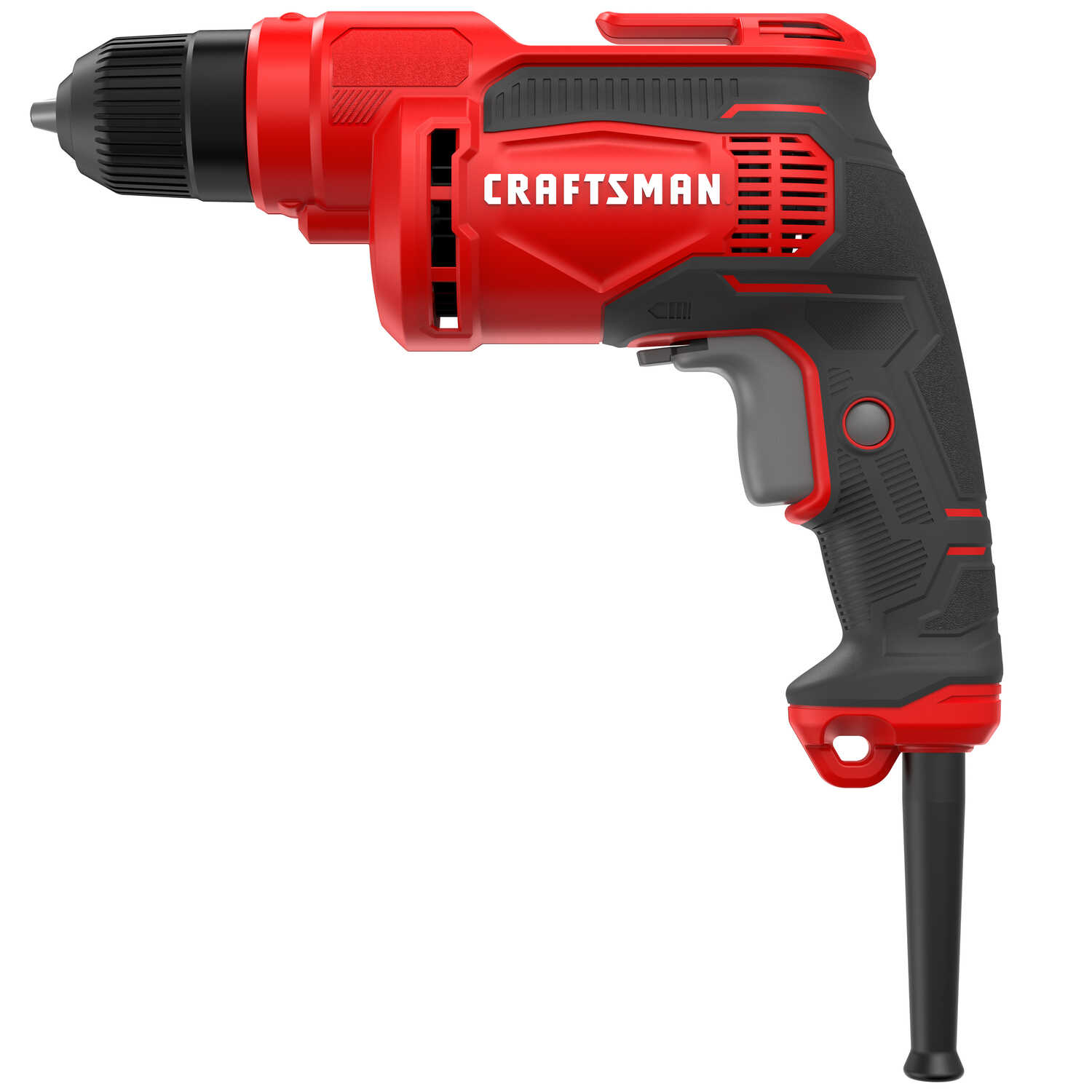 Craftsman  3/8 in. Keyless  Corded Drill Driver  7 amps 2500 rpm Variable Speed 3.17 lb.