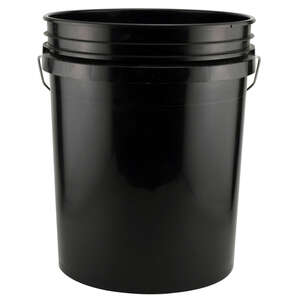 Leaktite  Black  Plastic  Bucket  5 gal.