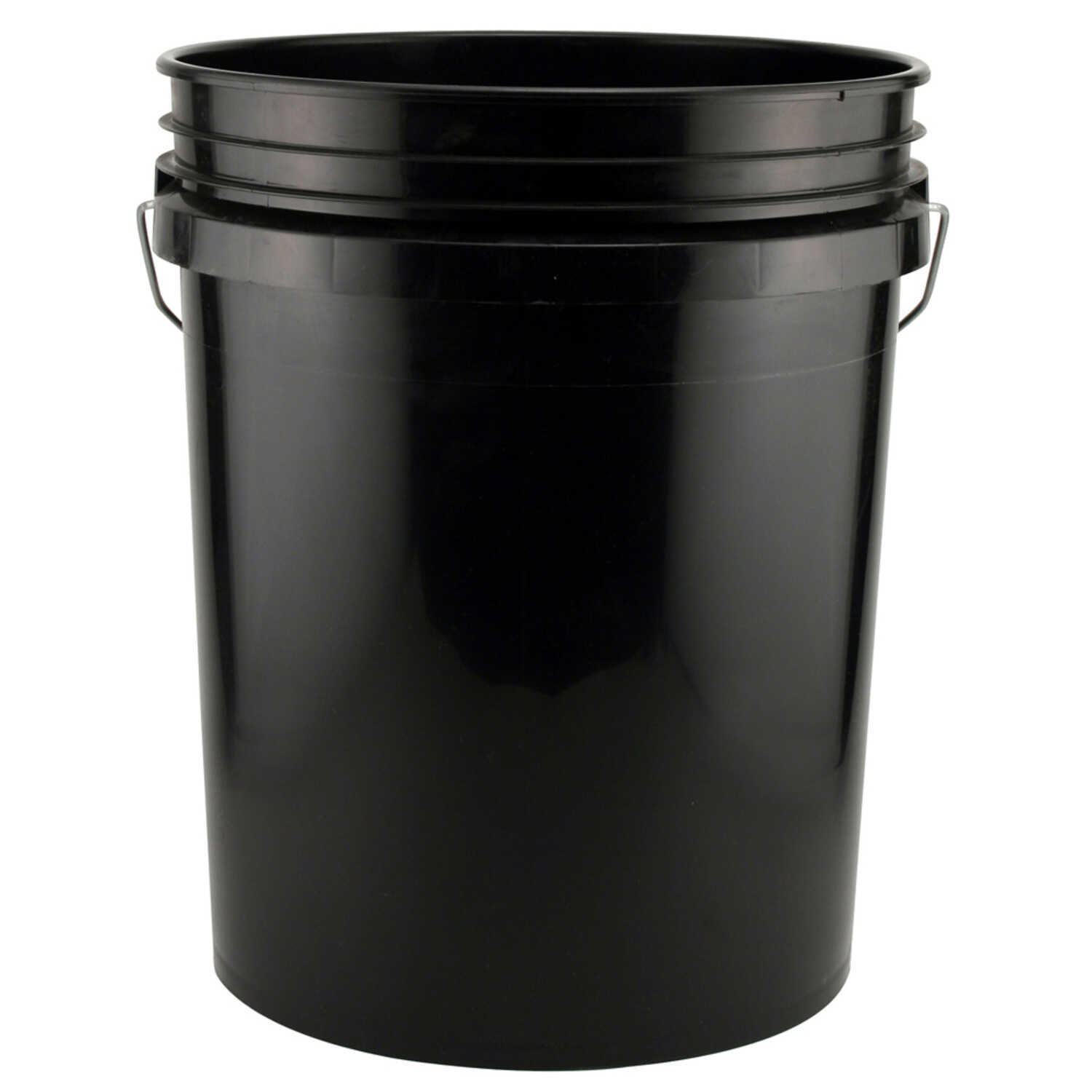 Leaktite  Black  5 gal. Plastic  Bucket