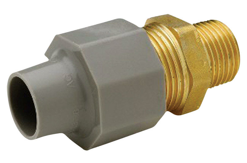 Zurn  Qest  1/2 in. CTS   x 1/2 in. Dia. MPT  Brass/Polyethylene  Pex Coupling Adapter