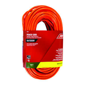 Ace  Indoor and Outdoor  100 ft. L Orange  Extension Cord  12/3 SJTW