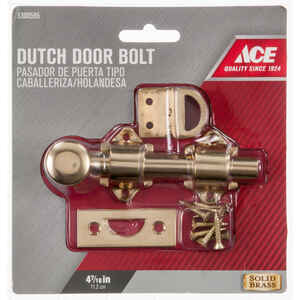 Ace  Bright Brass  Brass  Dutch Door Bolt