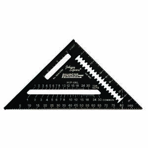 Johnson  7 in. L x 10 in. H Aluminum  Rafter Square  Black