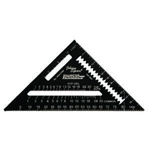 Johnson  7  L x 10 in. H Aluminum  Black  Rafter Square