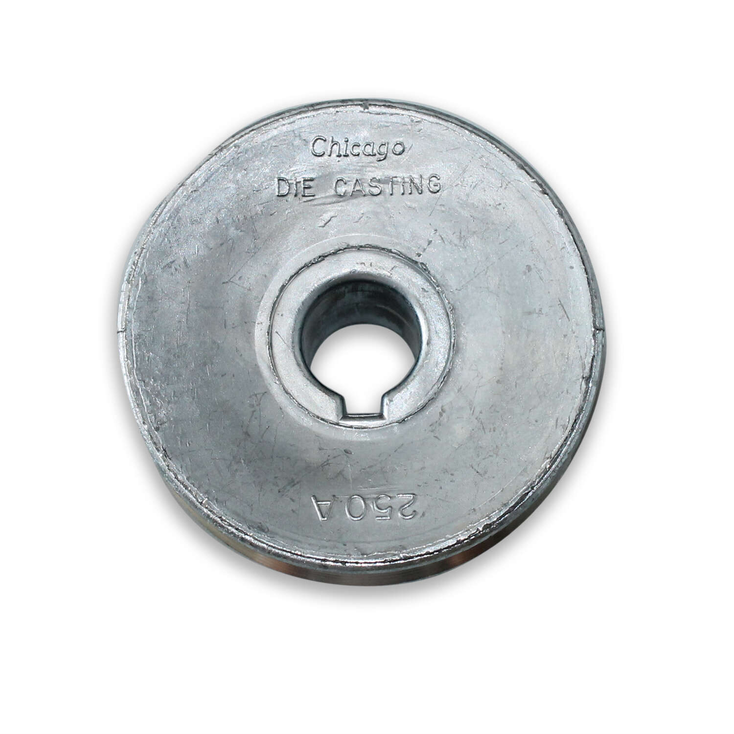 Chicago Die Cast Single V Grooved Pulley A 2-1/4 in. x 5/8 in. Bulk