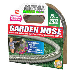 Metal Garden Hose As Seen On TV 5/8 in. Dia. x 75 ft. L Stainless Steel Garden Hose