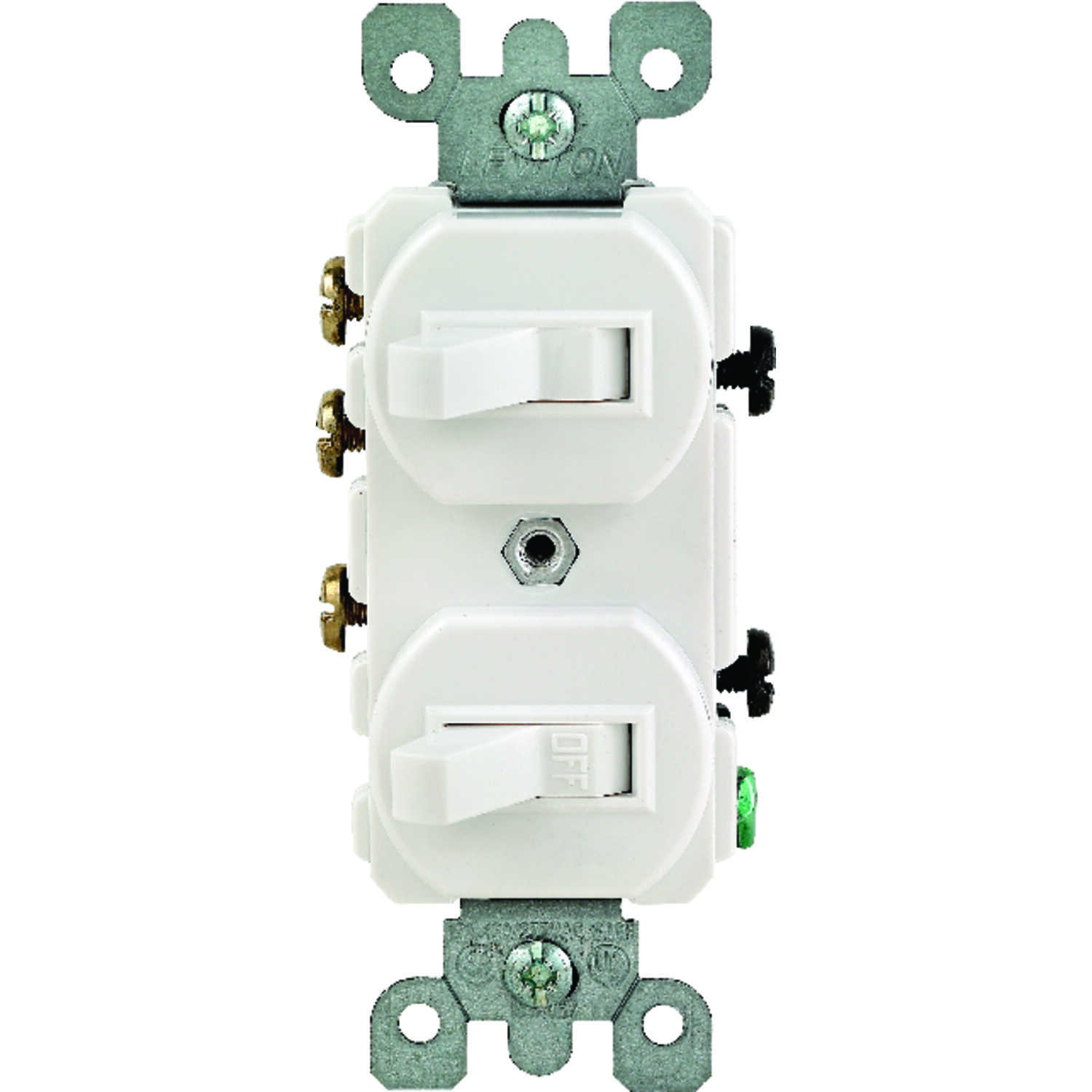 Leviton  15 amps Single Pole/3 Way  Switch  White  1 pk