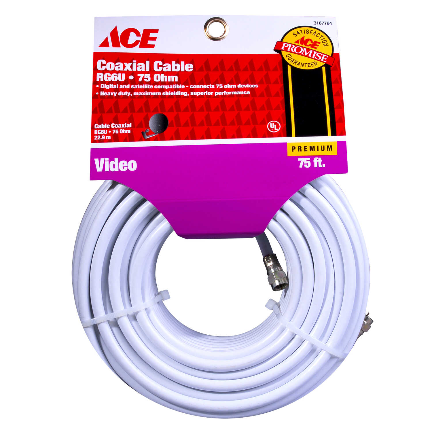 Ace  75 ft. Video Coaxial Cable
