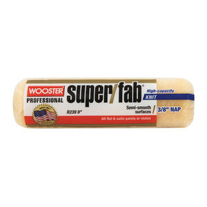 Wooster  Super/Fab  Knit  3/8 in.  x 9 in. W Regular  Paint Roller Cover  1 pk
