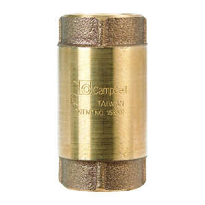 Campbell  1 in. 1 in. FIP X 1 in. FIP  Red Brass  Spring  Check Valve