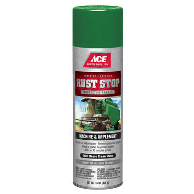 Ace Rust Stop Gloss John Deere Green Protective Enamel Spray 15 oz.