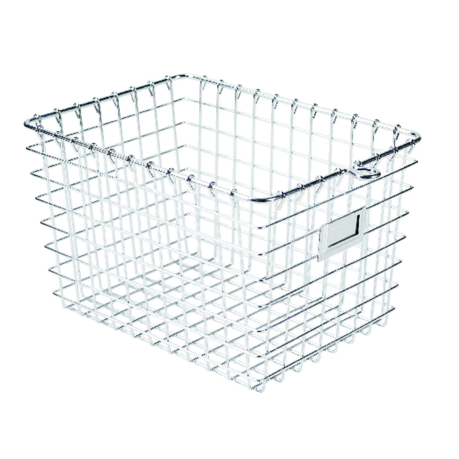 Spectrum  8 in. H x 8-7/8 in. W x 12-7/8 in. L Silver  Locker Basket