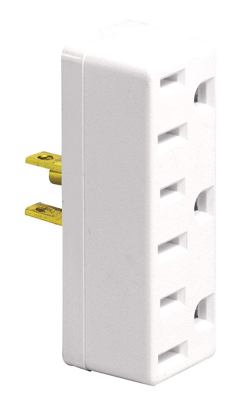 Ace  Grounded  3  Triple Outlet Adapter  1 pk Surge Protection