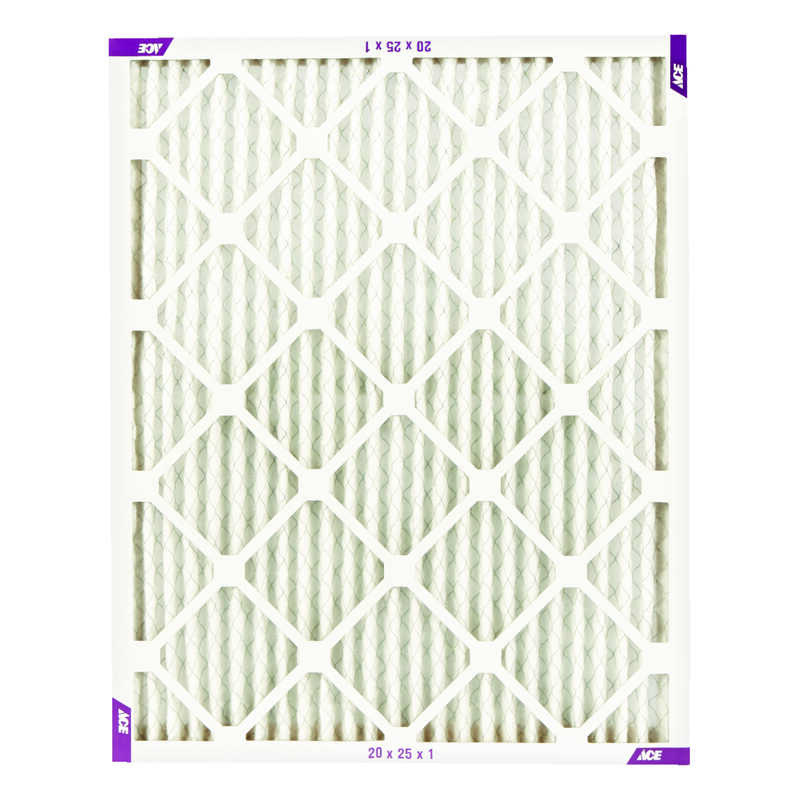 Ace  20 in. W x 25 in. H x 1 in. D Pleated  Pleated Air Filter