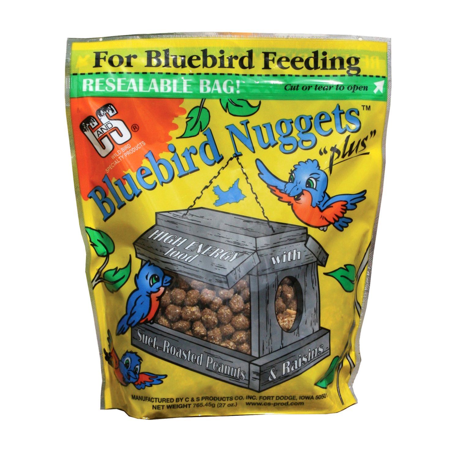 C&S Products  Bluebird  Suet Nuggets  Blueberry  27 oz.